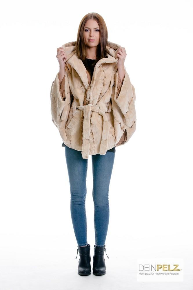 Luxus Nerz Klauen Jacke mit Gürtel