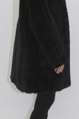 Fur jacket Parker mink black