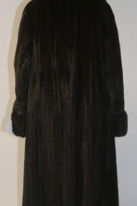 Pelz Fell Mantel Nerz  Braun ausgelassen