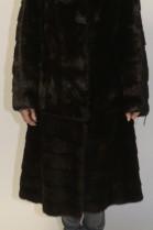 Fur coat mink brown black brown or jacket