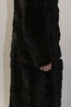 Pelz Fell Mantel Nerz Braun schwarzbraun oder Jacke