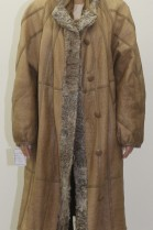 Fur .. Fur reversible coat Grown Persian beige