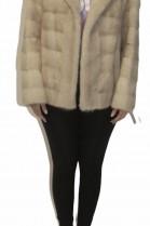 Fur jacket mink cream
