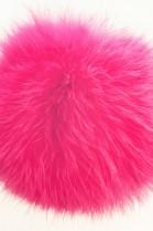 Kanin Fellbommel Pelzbommel pink