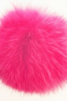 Rabbit fur fur bobble bobble pink