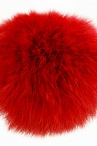 Rabbit fur pompom fur pompom red