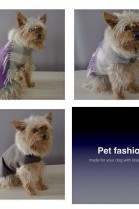 LUXURY dog coat fabric / leather / mink with fringe