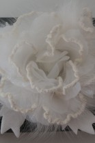 Fur brooch white rose to infect luxury fur fashion
