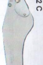 Kürschner Messer Original ROMI Diagonalklingenhalter Stahl
