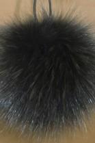 Blue fox fur bobble bobble bobble fur - Fir Green