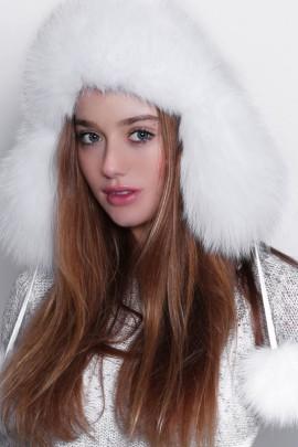 Shadow fox fur hat fur hat fur hat