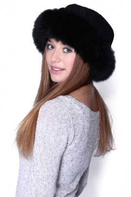 Fur Hat Black Fur Hat Blue Fox