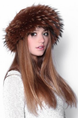 Fur Hat Brown Finnraccoon fur hat