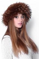 Fur Hat Brown Finnraccoon fur hat