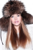 Fur Hat Brown Finnraccoon Busby