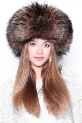 Fur Hat Brown Finnraccoon Busby