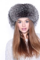 Fur Hat Aviator Hat Blue Frost genuine fur hat