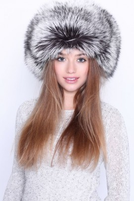 Fur Hat Fur Cap Silver fox real fur