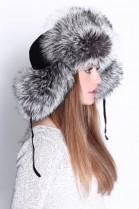 Fur Hat Fur Cap Silver fox real fur