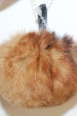 Plucked rabbit fur bobble bobble fur fur fur -beige Brown