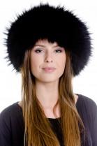 Finnraccoon headband fur fur fur band headband - Black