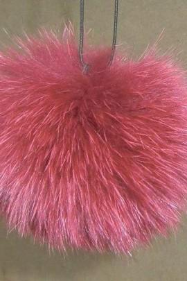 Blue fox fur fur fur fur bobble bobble - Red Brown