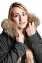 Be affixed fur hood fur collar Premium Finnraccoon