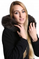Premium Fur Hood tailored fur collar dark brown