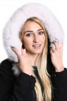 Fellkapuze Premium maßgeschneidert  Fuchs natur weiß