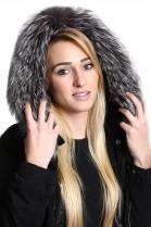Premium fur hood attaching Service fur collar fur collar