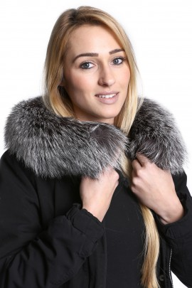 Premium fur hood attaching Service fur collar fur collar