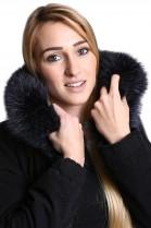 Premium Fur Hoodie Midnight Blue incl. Attaching Service