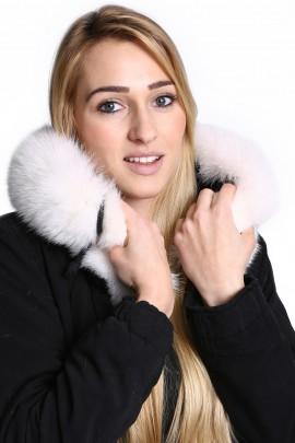 Fur Hoodie premium snow-white fur collar made to measure