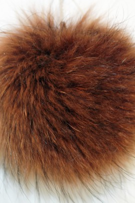 Fur fur bobble bobble bobble fox Finnraccoon - Rust Brown