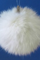Rabbit fur pompom fur bobble - White (B-WARE!)