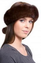 Fur Headband mink brown