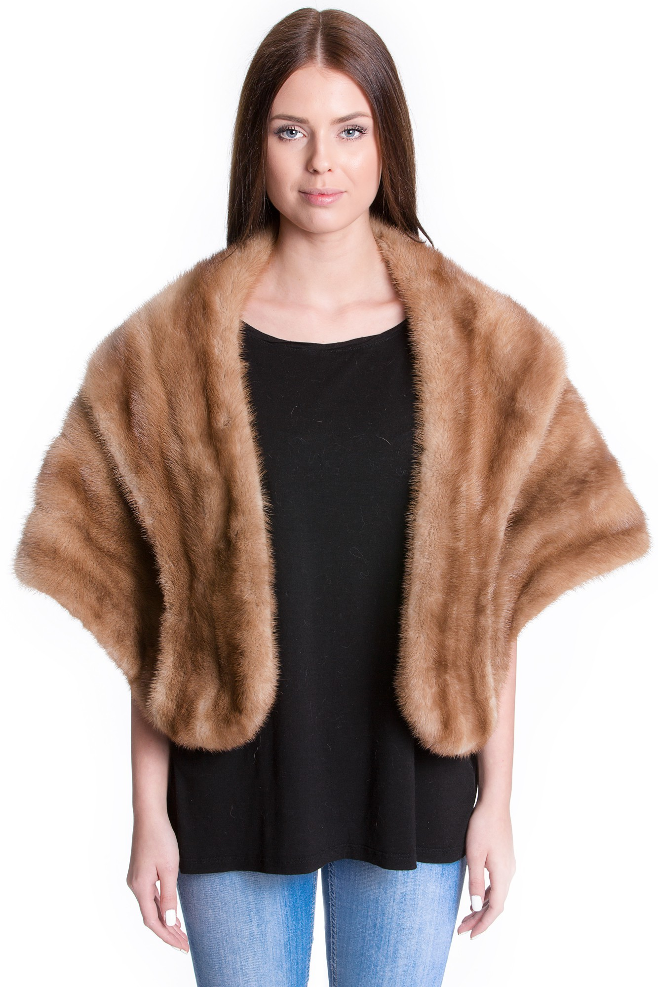 buy fur mink stole beige fur stole online at your furs