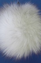 Blue fox fur Bommel- nature (B-WARE!)