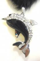 Fur mink tails Collier Deco Dolphin