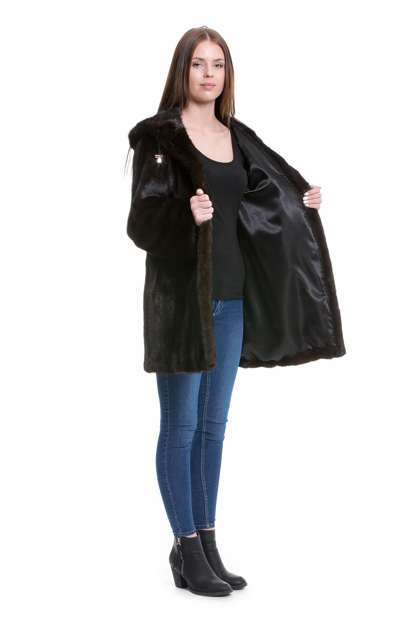 Nerz Mantel umarbeiten in eine Nerz Jacke mit Fellkapuze kaufen im ... d77b334cf9