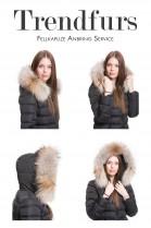 Fur hooded fur collar fur strip attaching Service