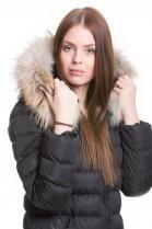 Fur hood beige golden brown tone incl. Attaching Service