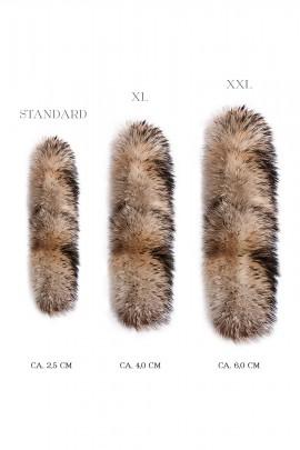 Fur Hood XL XXL Premium or Finnraccoon Gold Black Nude