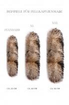 Let fur hood fur hood fur attaching strips
