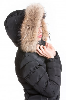 Premium fur stripes fur hood fur XXL with attaching Service