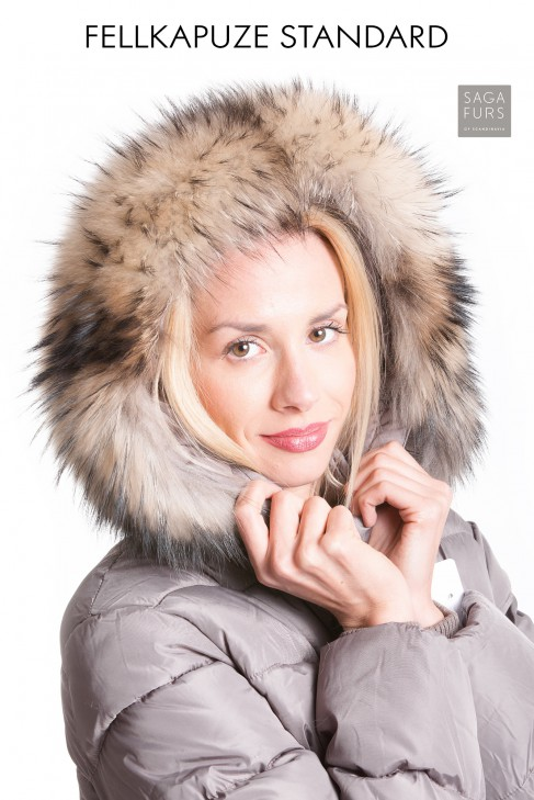 Fox fur collar fur strips precious premium fur hood XXL
