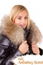 Hooded stripe size: XXL light brown fur hood mount