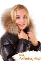 Fur collar Size: L dark brown fur collar fur hood