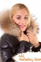 Fur Hoodie Size: XL dark brown fur strip