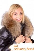 Hooded stripe size: XXL dark brown fur hood mount